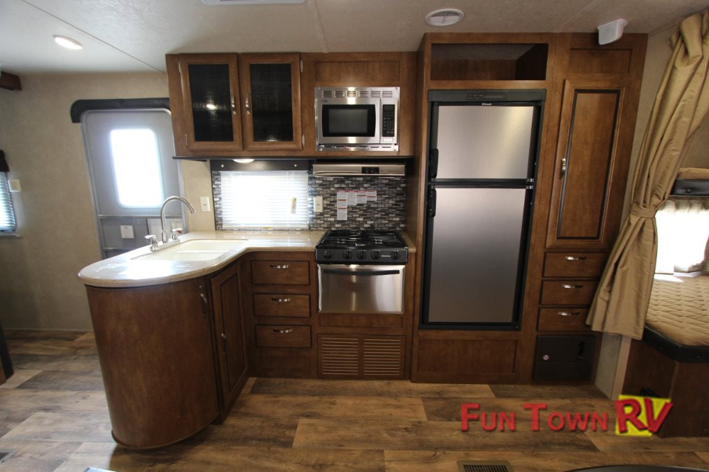 Forest River Salem 27DBUD Travel Trailer Kitchen